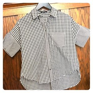 Madewell Gingham-Play Button Down Shirt